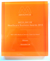 National Success for Savantini at the Medilink Healthcare Business Awards!