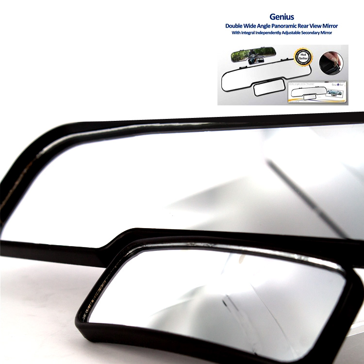 Genius Ideas Double Wide Angle Rear View Mirror Ebay