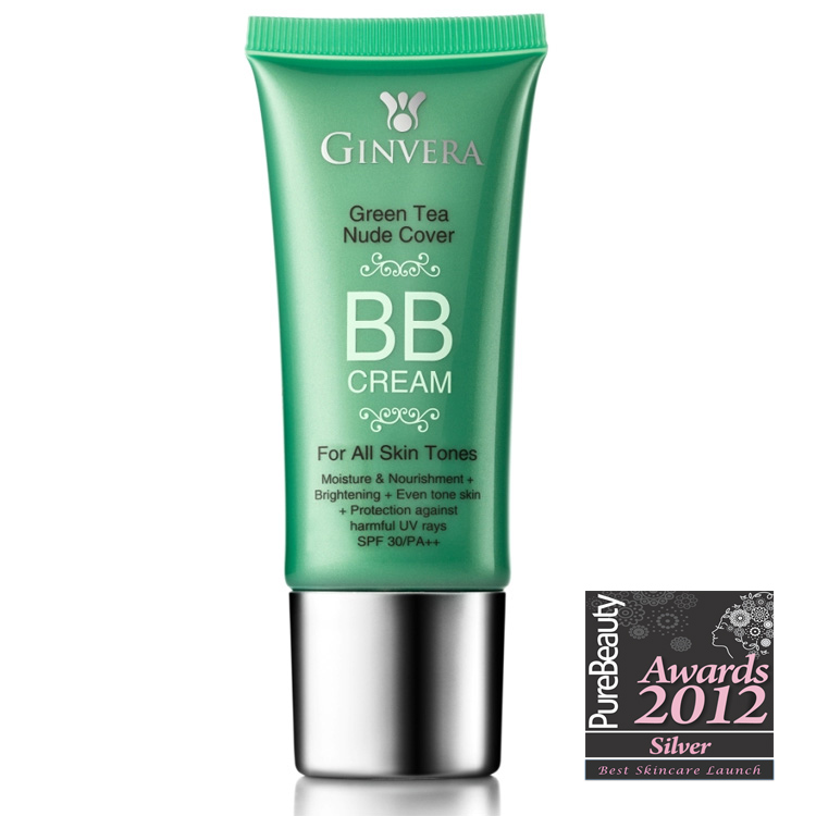Ginvera Green Tea Nude Cover BB Cream SPF30