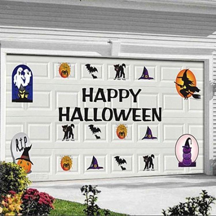 Halloween Decorations Jobar 30 Piece Halloween Garage Door