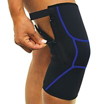 Easy On/Off Zipper Compression Knee Wrap 1