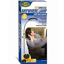 Ideaworks LED Cordless Anywhere Lamp with Foot Control