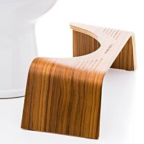 Squatty Potty Slim with Teak Finish 1