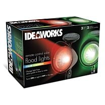 Ideaworks Colour Changing Remote Control Solar Flood Lights