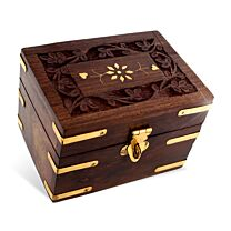 Carved Wood Aromatherapy Oils Box