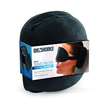 Ideaworks 2 In 1 Travel Pillow & Eye Mask 1