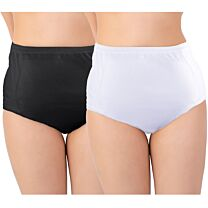 Ladies Lace Brief Discreet Cotton Incontinence Pants with Built-In Pad (High Absorbency) 1