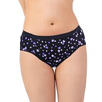 Ladies High Leg Brief Discreet Cotton Incontinence Pants With Built-In Pad (Medium Absorbency) 1