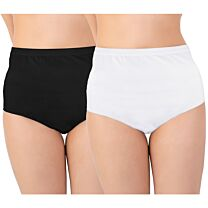 Ladies High Waisted Brief Discreet Cotton Incontinence Pants with Built-In Pad (Medium Absorbency)* 1