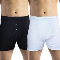 Mens Boxer Short Cotton Incontinence Pants with Built In Pad (Medium Absorbency) 1
