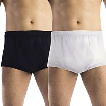 Mens Double Layered Super Discreet Cotton Incontinence Pants (Light Absorbency) 1