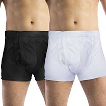 Mens Trunk Discreet Cotton Incontinence Pants with Built in Pad (High Absorbency) 1