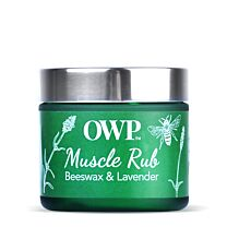 Organic Where Possible (OWP) Beeswax & Lavender Muscle Rub 1