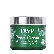Organic Where Possible (OWP) Lemon Oil Hardworking Hands Intense Moisturising Cream  2