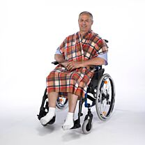 Poncho Wheelchair Seat Wrap - Beige check 1