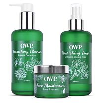 Organic Where Possible (OWP) Rose Nourishing Face Care Kit 1