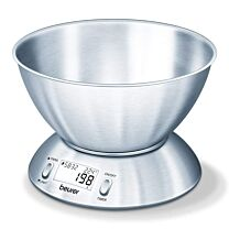 Beurer KS54 Extra Large Stainless Steel Kitchen Scale with Bowl 0