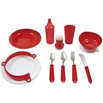 Red Deluxe Tableware Set for Alzheimer's