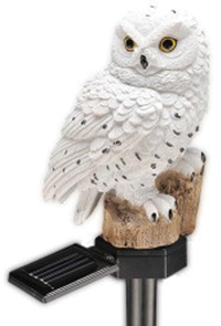 Good Ideas White Owl Solar Light
