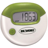 Ideaworks Set of 2 Digital Pedometers Green