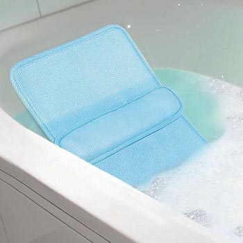 Ideaworks Lumbar Support Bath Pillow in bath