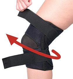 North American Health + Wellness Adjustable Compression Knee Wrap