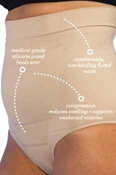 Post Op Panty Compression + Silicone Diagram