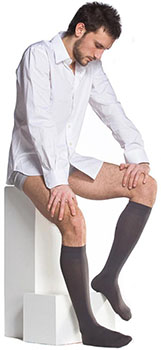 Solidea Knee High Therapeutic Compression Socks on Male Model