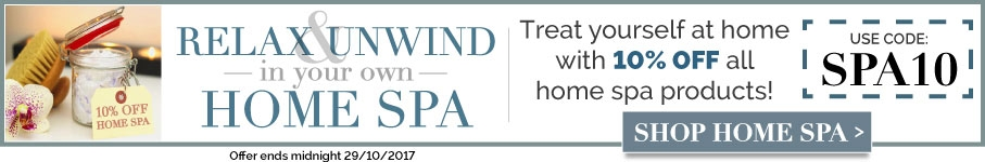 10% off Home spa Products