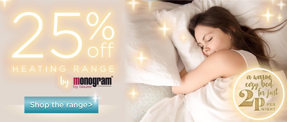 25% Off Monogram Personal Heating