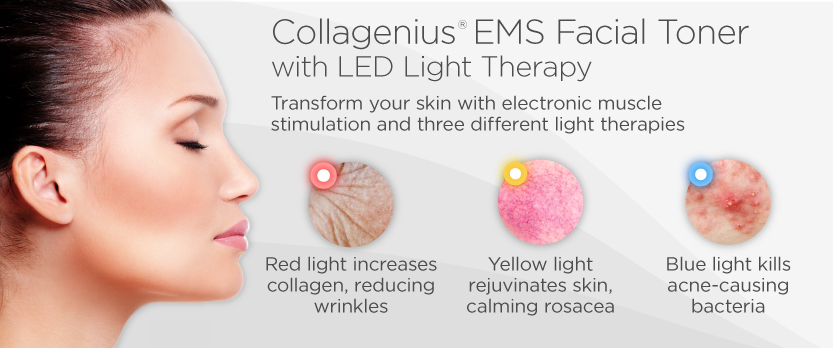 Collagenius EMS Facial Toner with LED Light Therapy