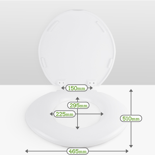 Go Better Extra Wide Bariatric Toilet Seat Dimensions