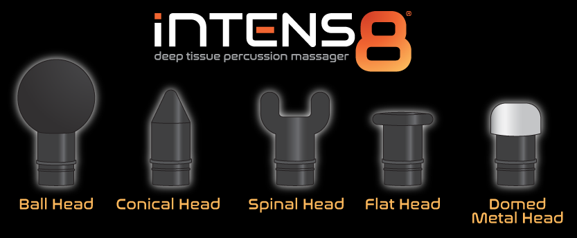 Intens8™ Deep Tissue Percussion Massager Attachments