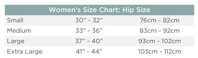 Ladies Sizing Chart