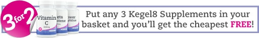 Put any 3 Kegel8 Supplements in your basket and you'll get the cheapest FREE