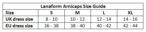 Lanaform Arnicaps control belt sizes