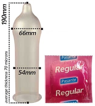 Pasante regular condoms