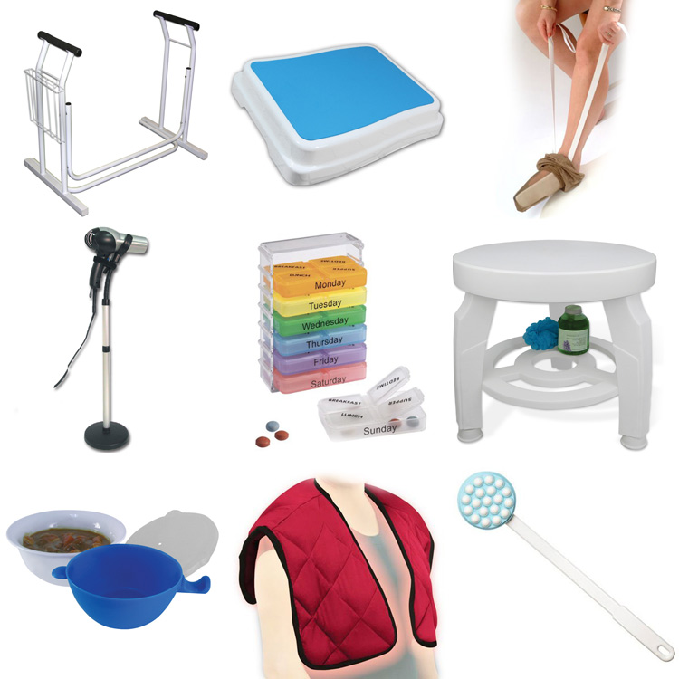 A selection of products from our new Living Aids section