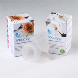 Mooncup is one of several types of menstrual cup that are safer to use than tampons