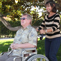 Wheelchairhandles for couples