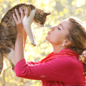 Laying a dog or cat on your stomach during your period can relieve cramps