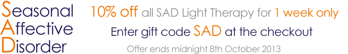 10% off SAD Light Therapy