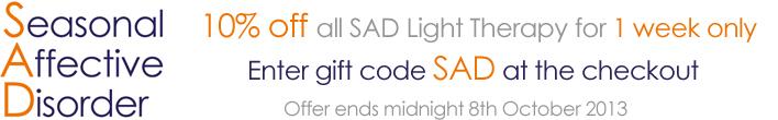 10% off SAD Light Therapy
