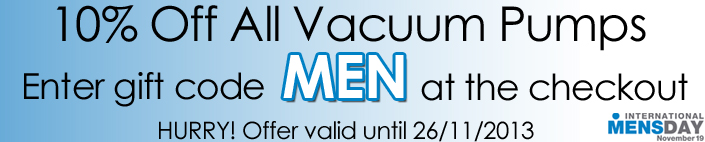 10% Off All Vacuum Pumps for ED