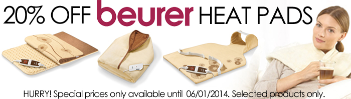 20% Selected Beurer Heat Pads