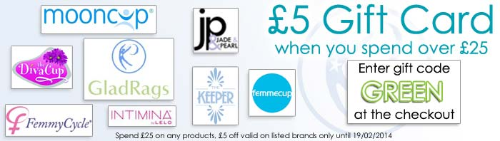 £5 Gift Card for Reusable Sanitary Products