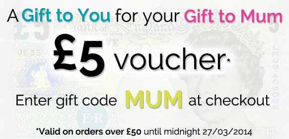 £5 voucher at StressNoMore for Mother's Day
