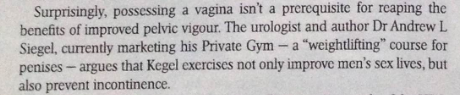 Private Gym and Kegels for men