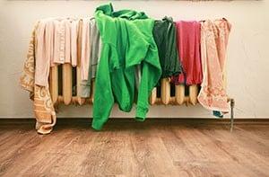 clothes-on-radiator