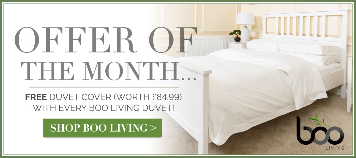 Free Duvet Cover (worth £84.99) with Every Boo Living Duvet!